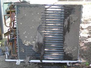Чистка наружного блока кондиционера